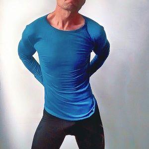 Men's Long Sleeve Rounded Hem Casual Shirt